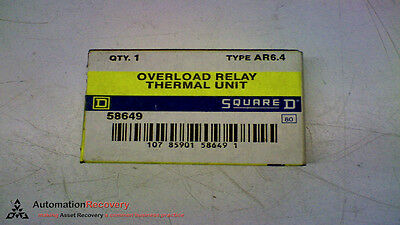 Square D Ar6.4 Overload Relay Thermal Unit, New