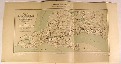 SW Ontario Ancient Great Lakes Shore Lines 1903 Canada geological survey map