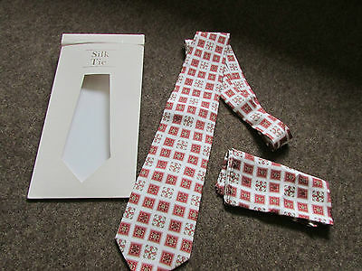 LORD's Home of CRICKET Silk Tie & Handkerchief  - SEE PICTURES