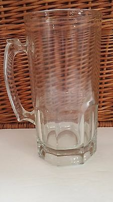 German Style Extra Large Glass  34 Ounce Beer Mug