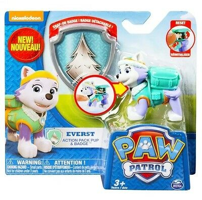 Paw Patrol Everest Badge Action Pup Genuine Licensed Nickelodeon Kids Gift Toy