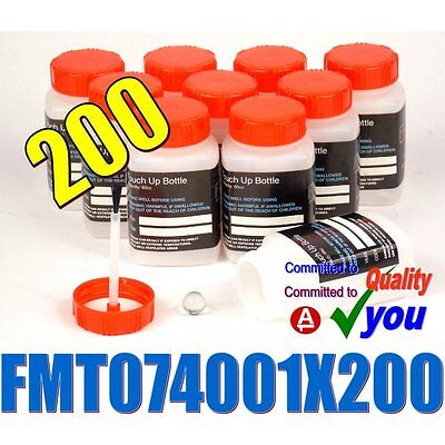 200 Plastic Paint Touch Up Pots Bottles Empty & Brush FMT074001 Lacquer Thinners
