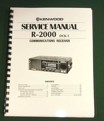 Kenwood R-2000 Service Manual - Premium Card Stock Covers & 28lb Paper!