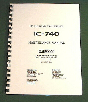 Icom IC-740 Service Manual: With Oirignal Format Full-Size Foldout Schematics!