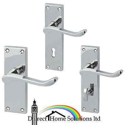 HAFELE VICTORIAN SCROLL polished chrome lever handles with backplates
