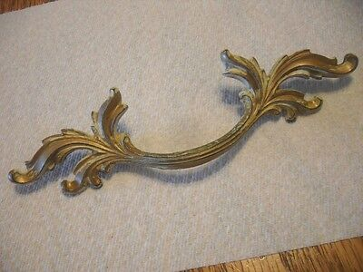 VINTAGE Brass WATERFALL Dresser DRAWER Pulls Art Deco Antique Henry Link Style