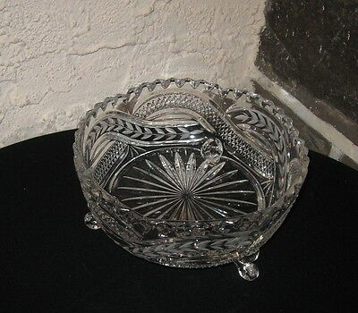 Crystal Bowl footed Unique design A BEAUTY