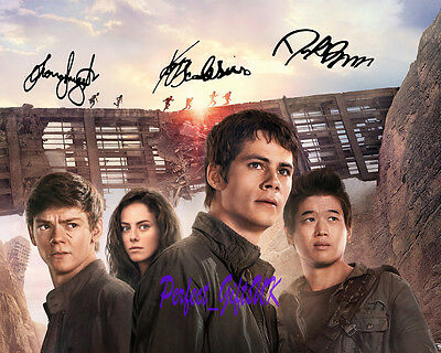 Maze Runner The Scorch Trails Cast SIGNED AUTOGRAPHED 10X8 PRE-PRINT PHOTO