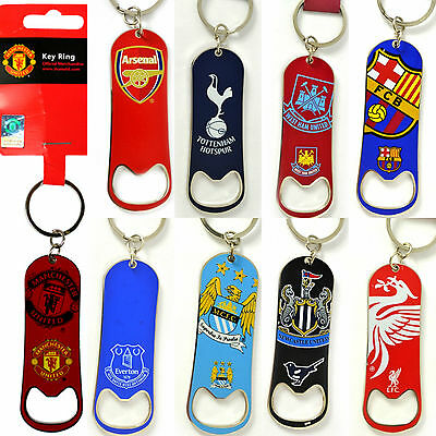 Football Fc Team Novelty Bar Bottle Opener Keyring Club Keychain Key Ring Gift