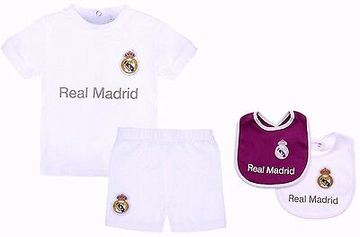 Real Madrid Fc Babies T Shirt Shorts Set Kit Baby Short Sleeve Pram Suit Rmcf