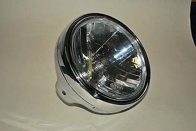 "7"" Chrome Round Motorcycle Headlight E-Marked Fits Suzuki GSF600 GSF1200 Bandit"