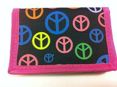 WHOLESALE JOB LOT 12 x GIRLS PINK PEACE RIPPER WALLET PURSE PARTY BAG FILLER
