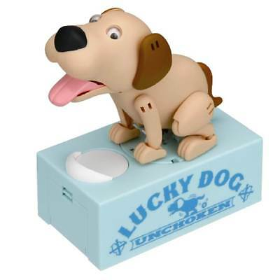 Hammer Action Lucky Beige Dog Coin Bank