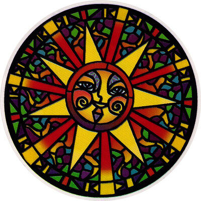 Stained Glass Sun - Window Sticker / Decal