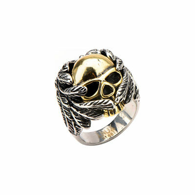 Inox Skull with Wings Stainless Steel Ring