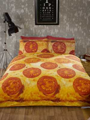 Pizza Photographic Take Away Packed Duvet Quilt Cover Bedding Set & Pillowcases