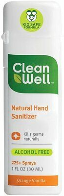 Hand Sanitizer Spray, Cleanwell, 1 oz Orange Vanilla
