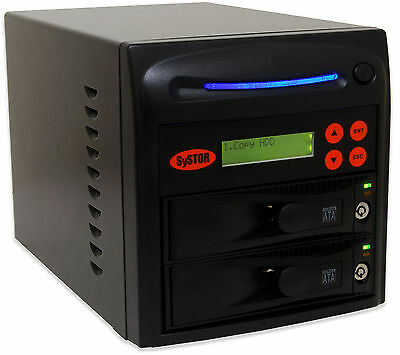 "Systor 1:1 Hard Drive Duplicator - Duplicate & Erase 3.5"" HDD & 2.5"" SSD Sizes"