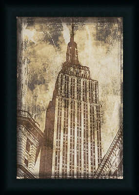 Empire State Building Vintage Style Photography Framed Art Print Décor 18x12