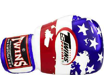 TWINS SPECIAL MUAY THAI BOXING GLOVES UNITED STATES FLAG 8oz 10oz 12oz 14oz 16oz