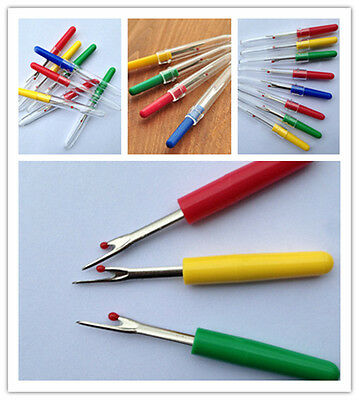 Hot 4PCS Handle Craft Thread Cutter Seam Ripper Stitch Unpicker Sewing Tool New