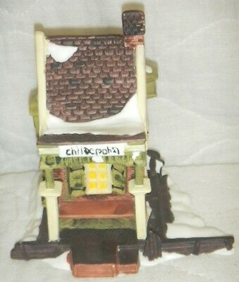 "Dept 56 Dickens Village Porcelain Bisque Figurine ""Childe Pond"" 1988, #59030"
