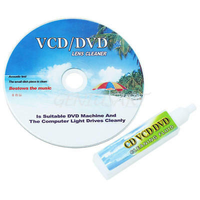 CD DVD Drive Player Lens Laser Head Dirt Cleaner Cleanning Disc & Fluid New
