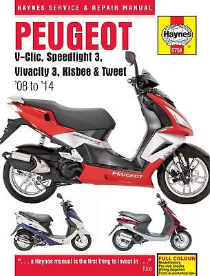 Haynes Peugeot V-Clic Speedfight 3 Vivacity 3 Workshop Service Repair Manual