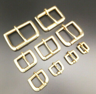 "Solid Brass Single Roller Belt Buckle 1/2"" to 2"" in packs of 1,2,5 and 10"