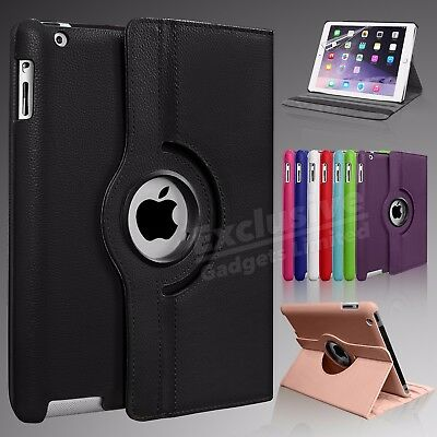Leather 360 Degree Rotating Smart Stand Case Cover For APPLE iPad Air 4 3 2 Mini
