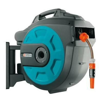 Gardena Wall-Mounted Hose Reel Box 25 Roll-Up Automatic