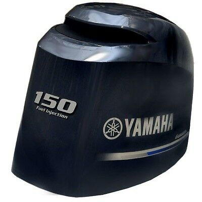 Yamaha 150 Four Stroke Fuel Injection Boat Motor Top Cowling Hood 63P-42610-40