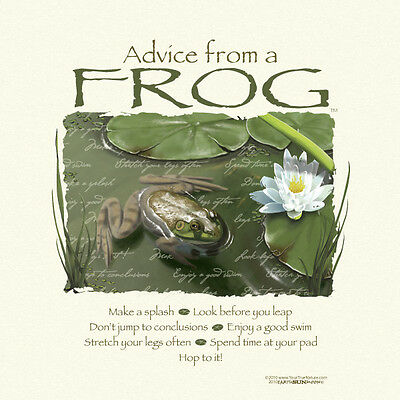 Advice From A Frog Small  Adult T-Shirt