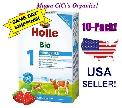 ***FREE EXPEDITED SHIPPING*** 10 BOXES Holle Organic Stage 1 Baby Infant Formula