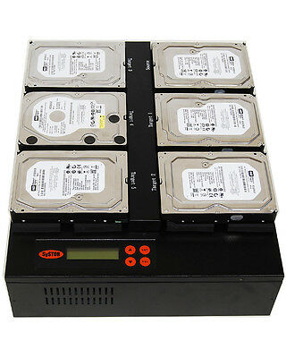 """Systor 1:5 HDD/SSD Duplicator, Flatbed - Copy & Erase 3.5"""" & 2.5"""" Hard Drives"""