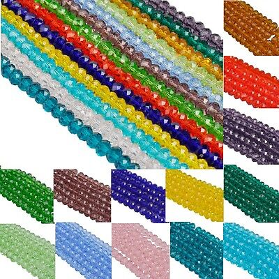 Hot Wholesale Colorful Crystal Glass Spacer Loose Beads Charms 4 6 8 mm