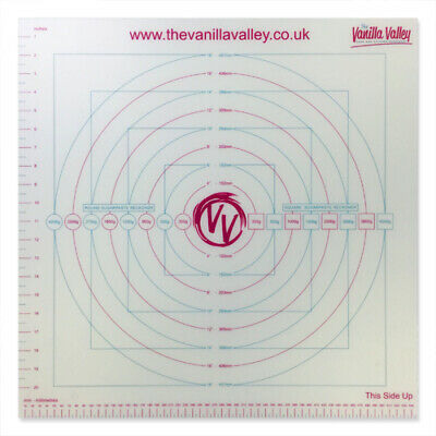 Roll Out Icing Mat with Sugarpaste Guide -Cake Decorating by The Vanilla Valley