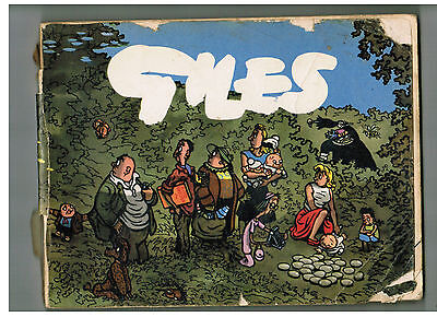 GILES CARTOON ANNUAL No. 10 from 1956 reading copy