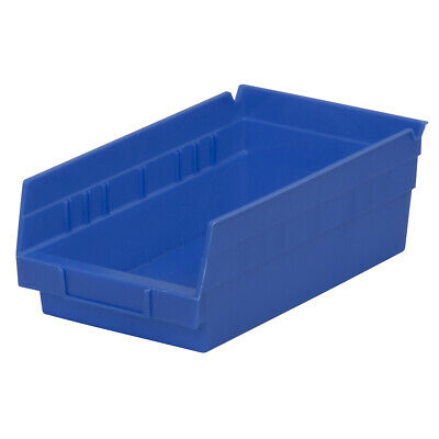 Akro-Mils Shelf Bin 11-5/8D x 6-5/8W x 4H Blue  12 pack