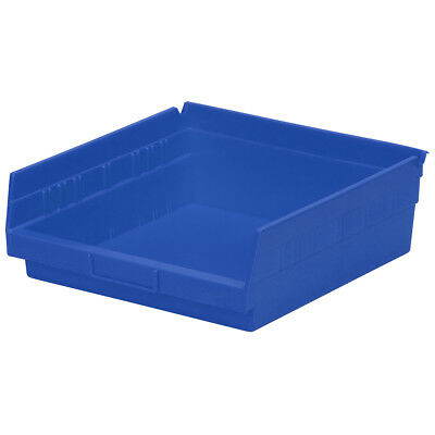 Akro-Mils Shelf Bin 11-5/8D x 11-1/8W x 4H Blue  12 pack