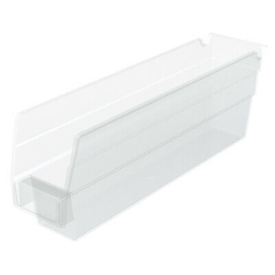 Akro-Mils Shelf Bin 11-5/8Dx 2 3/4W x 4H Semi Clear  24 pack