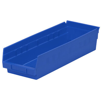Akro-Mils Shelf Bin 17-7/8D x 6-5/8Wx 4H Blue  12 pack