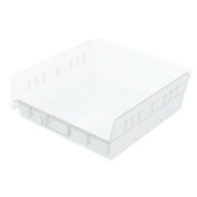 Akro-Mils Shelf Bin 11-5/8D x 11-1/8W x 4H Semi Clear  12 pack