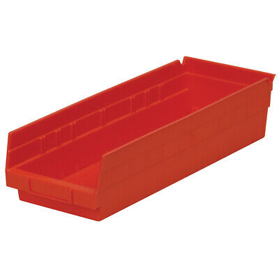 Akro-Mils Shelf Bin 17-7/8D x 6-5/8Wx 4H Red  12 pack