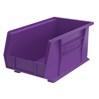 Akro-Mils AkroBin Stack & Hang Bin 7Hx8 1/4W x14 3/4D Purple  12 pack