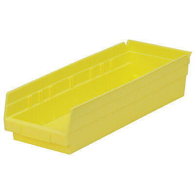 Akro-Mils Shelf Bin 17-7/8D x 6-5/8Wx 4H Yellow  12 pack