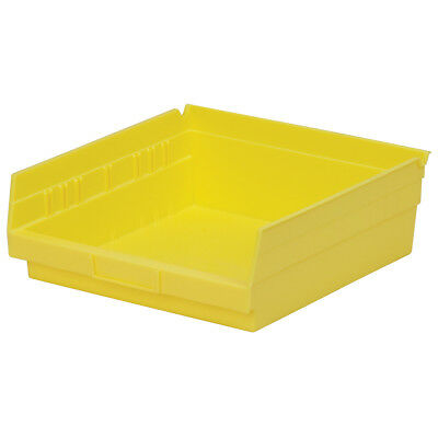 Akro-Mils Shelf Bin 11-5/8D x 11-1/8W x 4H Yellow  12 pack