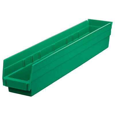 Akro-Mils Shelf Bin 23-5/8D x 4-1/8W x 4H Green  12 pack