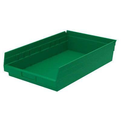 Akro-Mils Shelf Bin 17-7/8D x 11-1/8W x 4H Green  12 pack