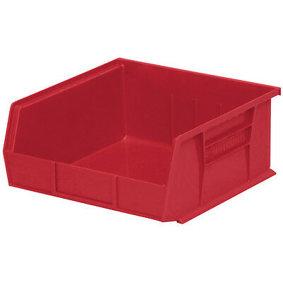 Akro-Mils AkroBin Stack & Hang Bin 10-7/8D x 11W x 5H Red  6 pack